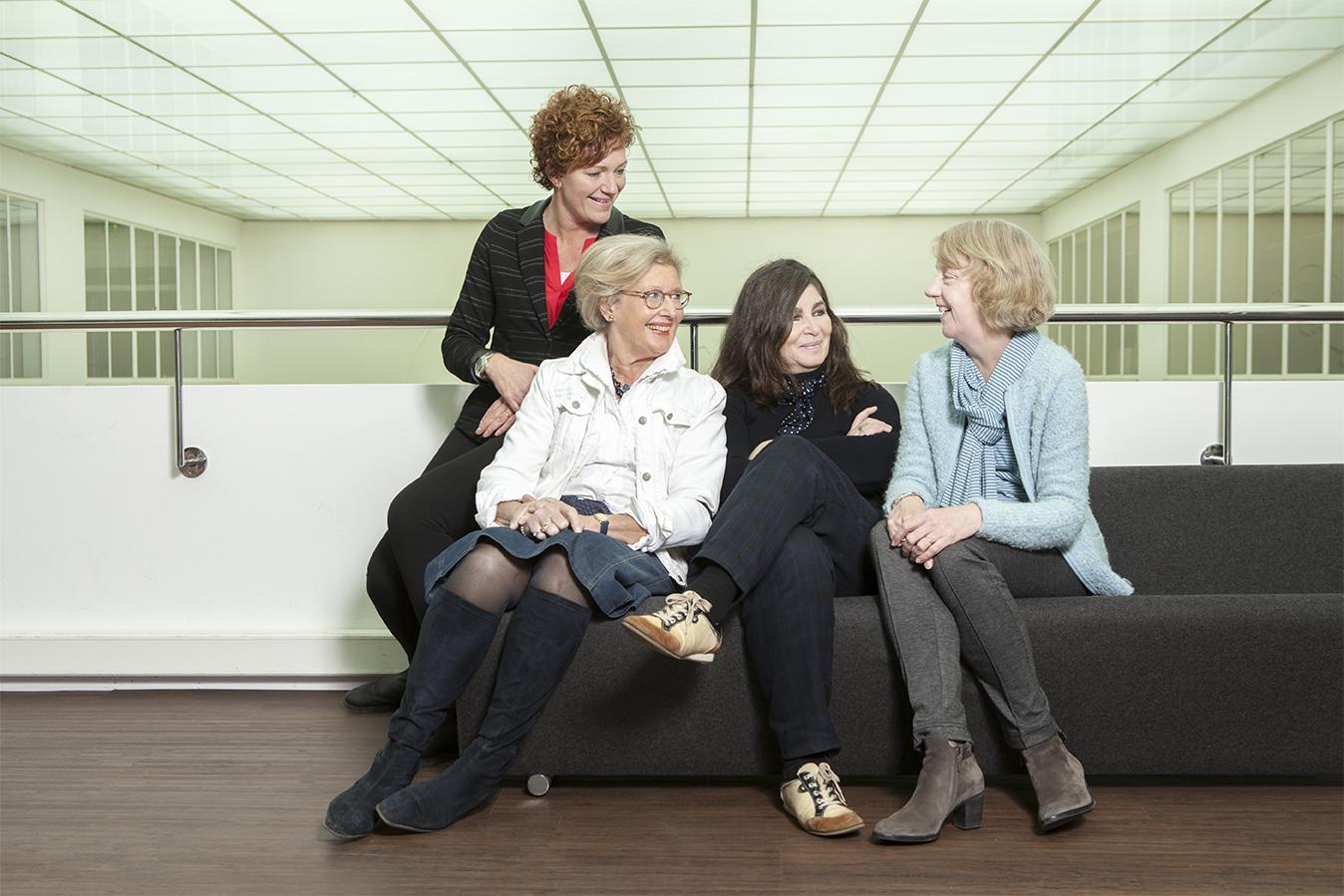 Groepsfoto coaches Vrouwen in de Lift loopbaanbegeleiding Rotterdam